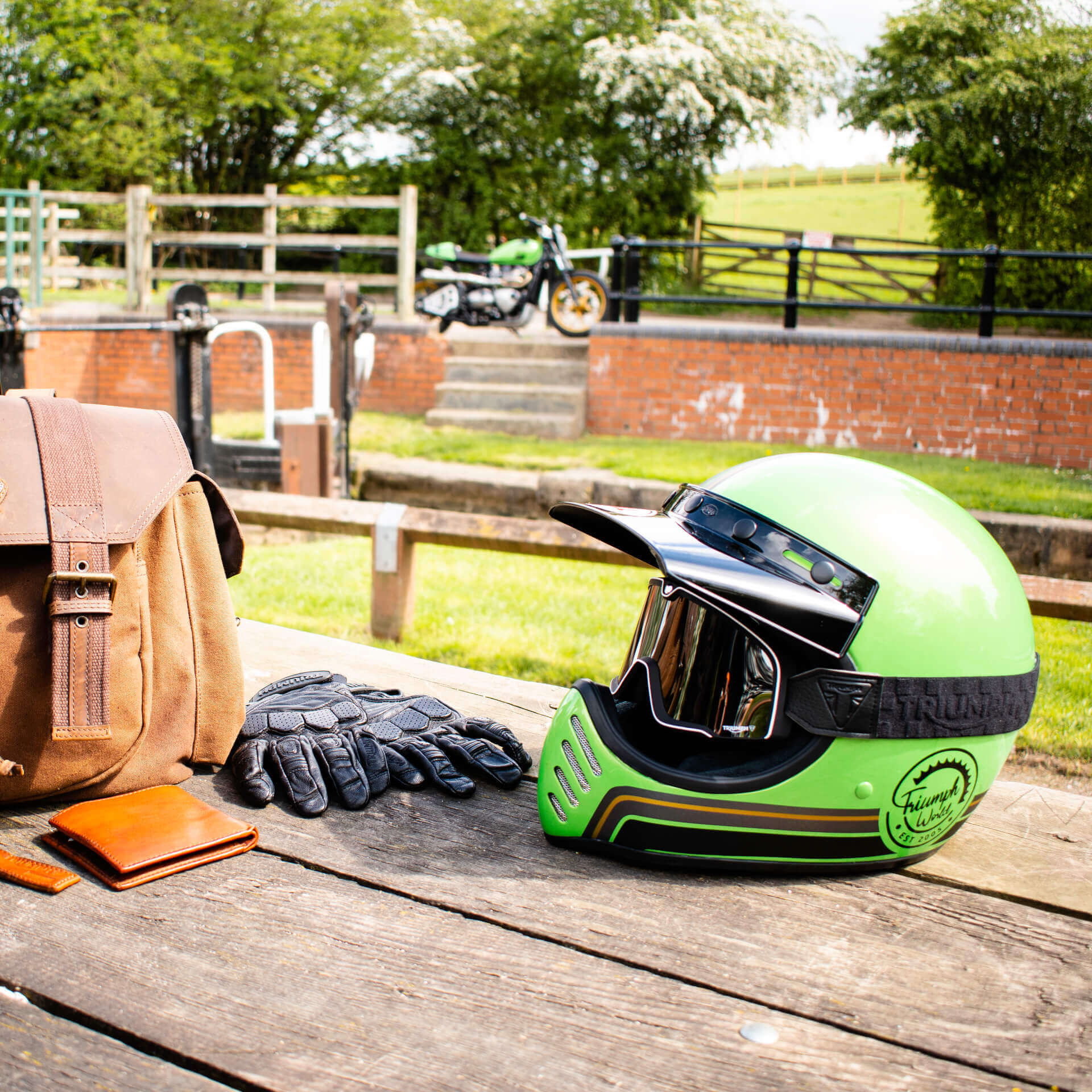 Motorbike helmet and accessories