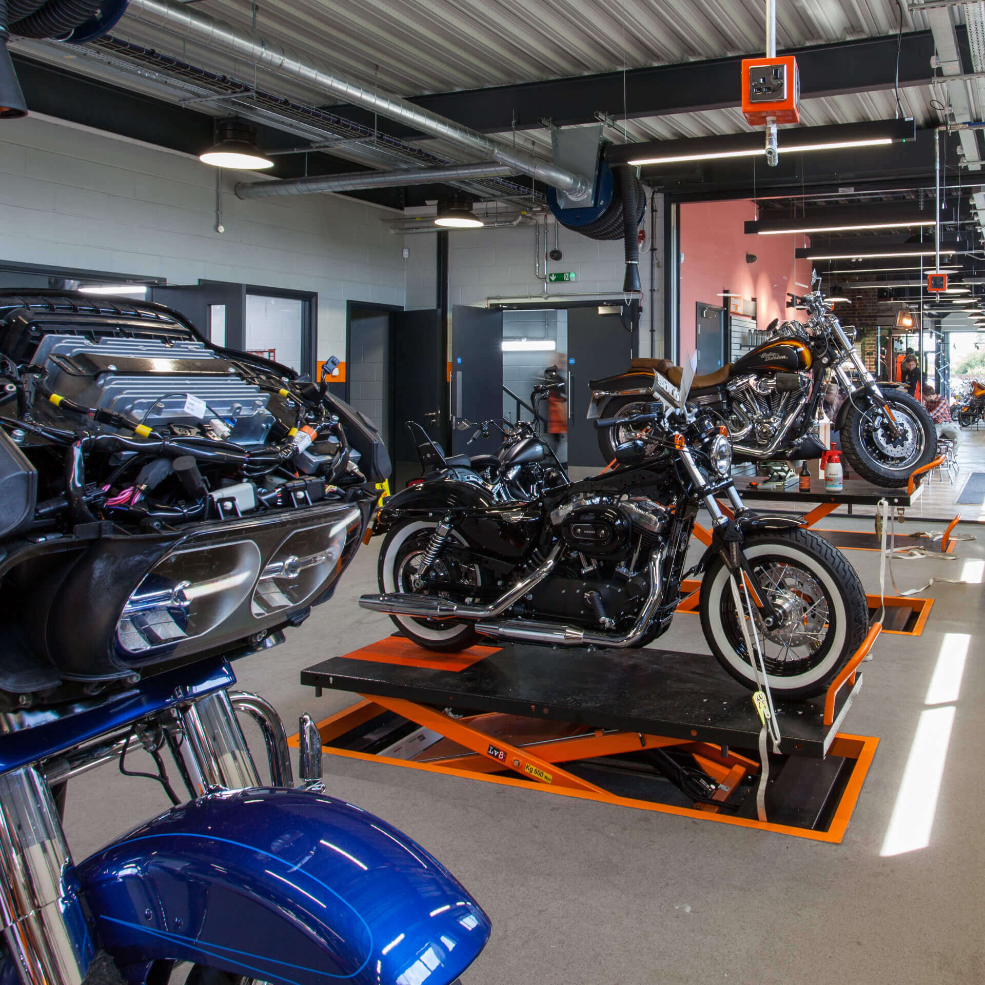 Bike Workshop at Harley Davidson