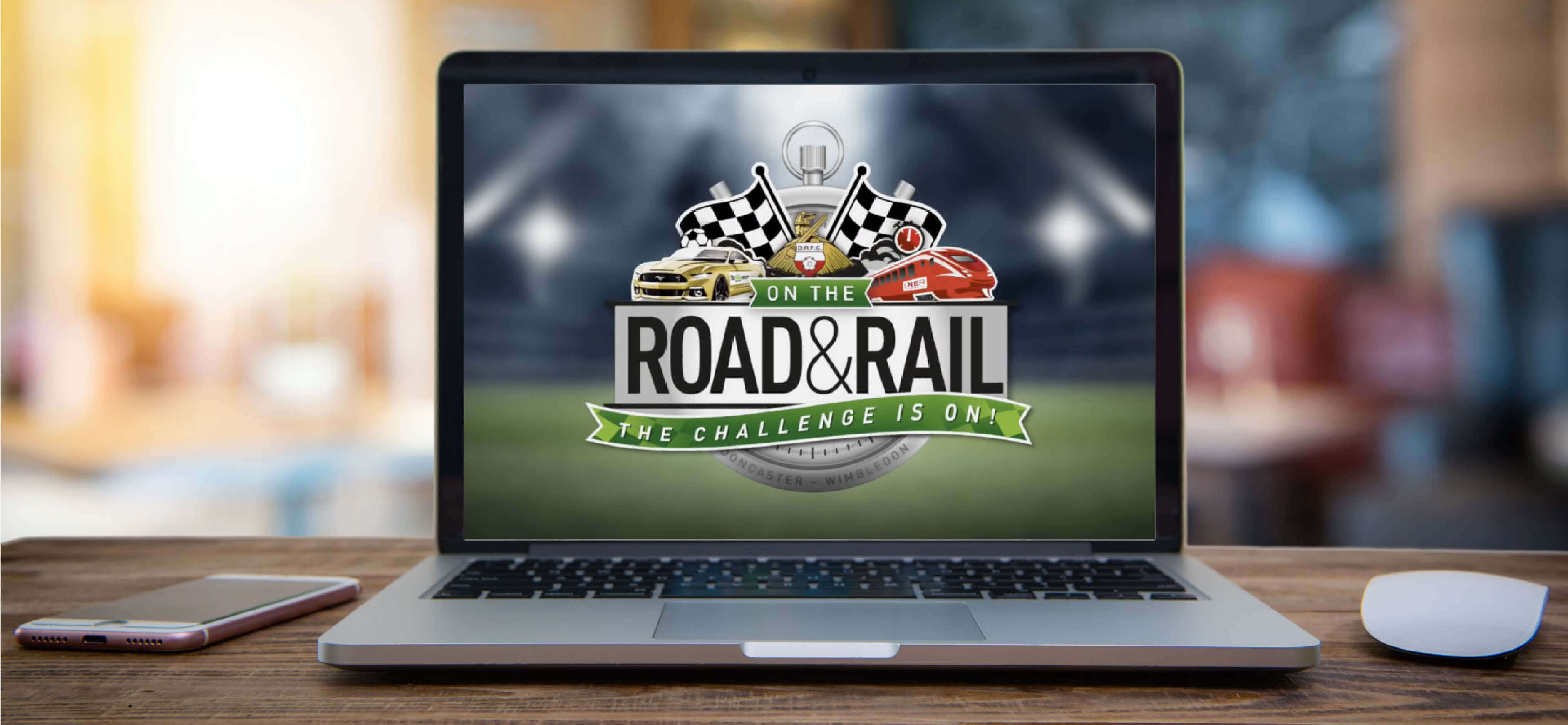 Stoneacre On the Road and Rail YouTube Clip on Laptop