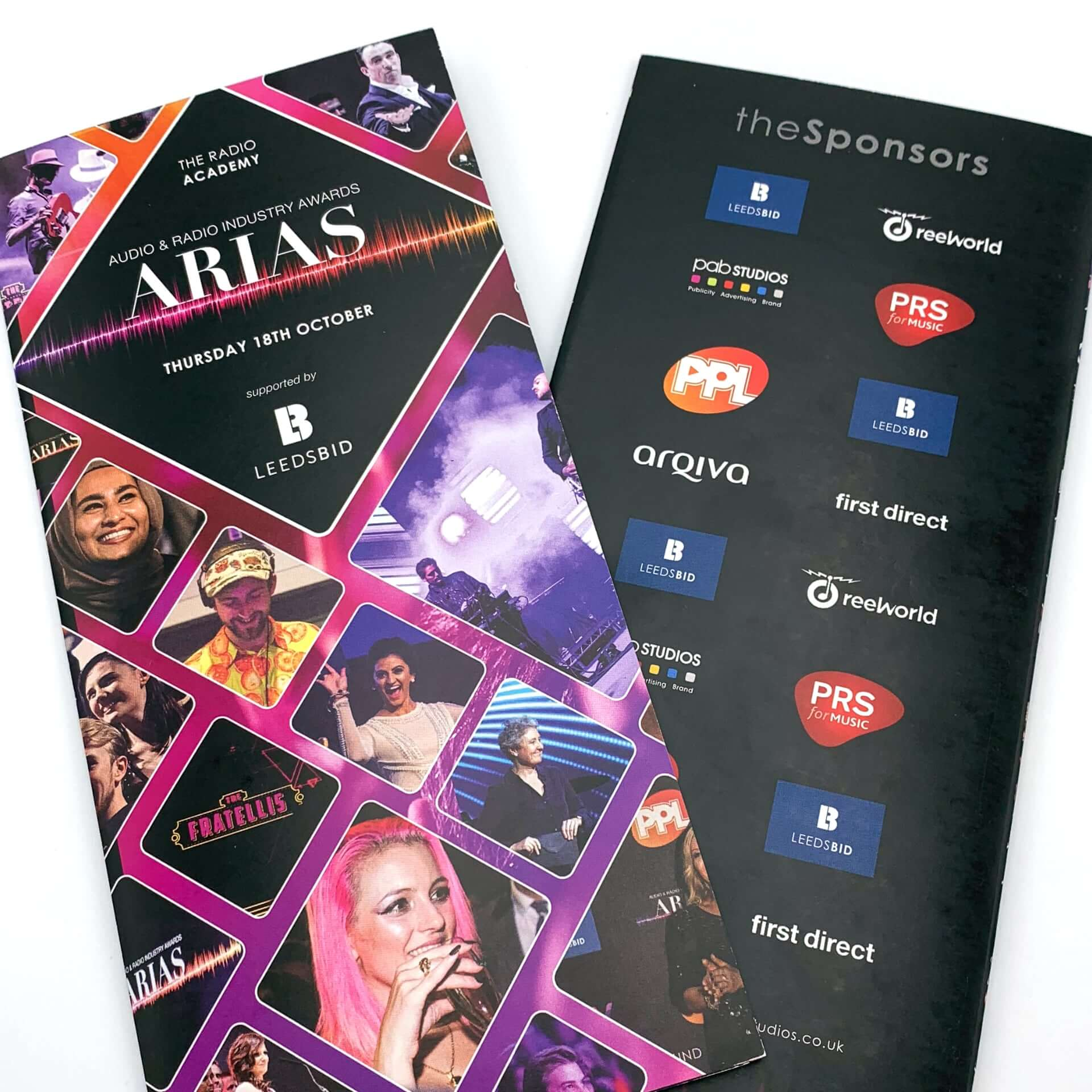 Arias Brochure - Front and Back Cover