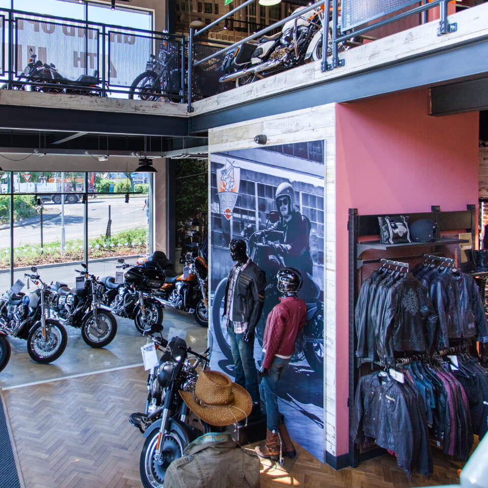 HarleyWorld Chesterfield Showroom