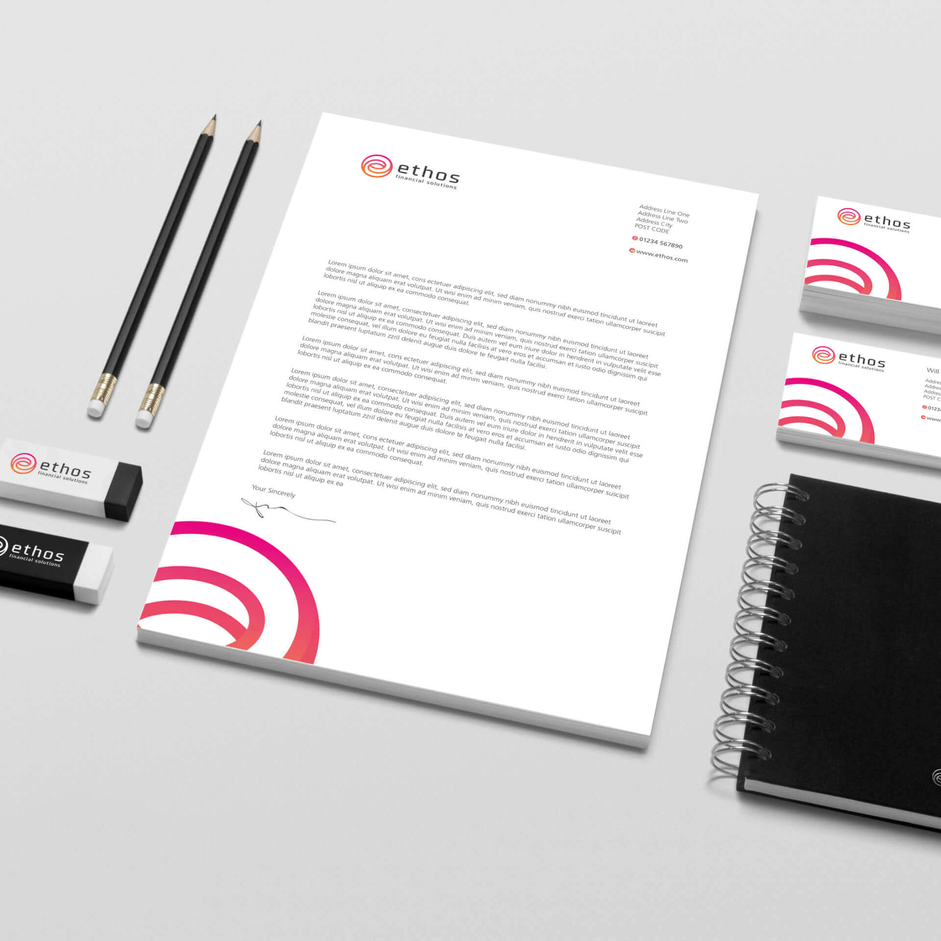 Ethos Branded Stationary