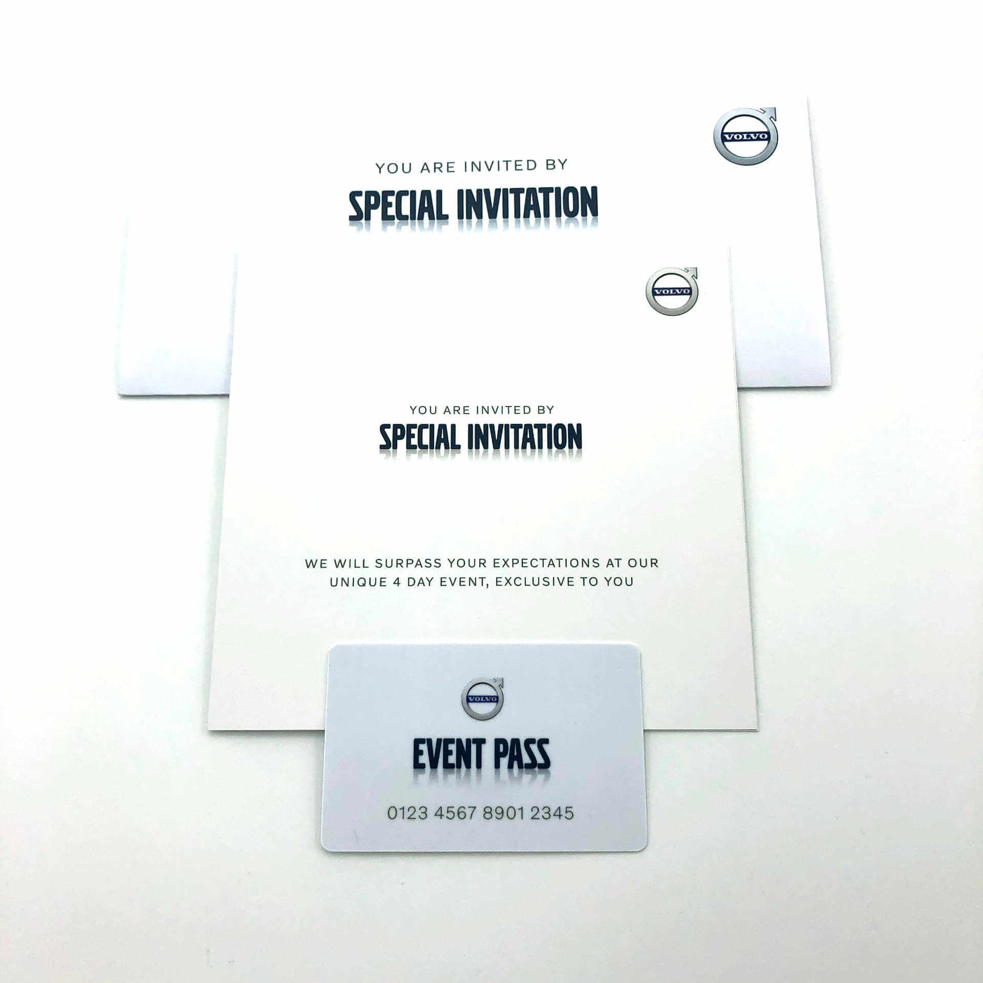 Mill Volvo Special Event Mailer and Guest pass