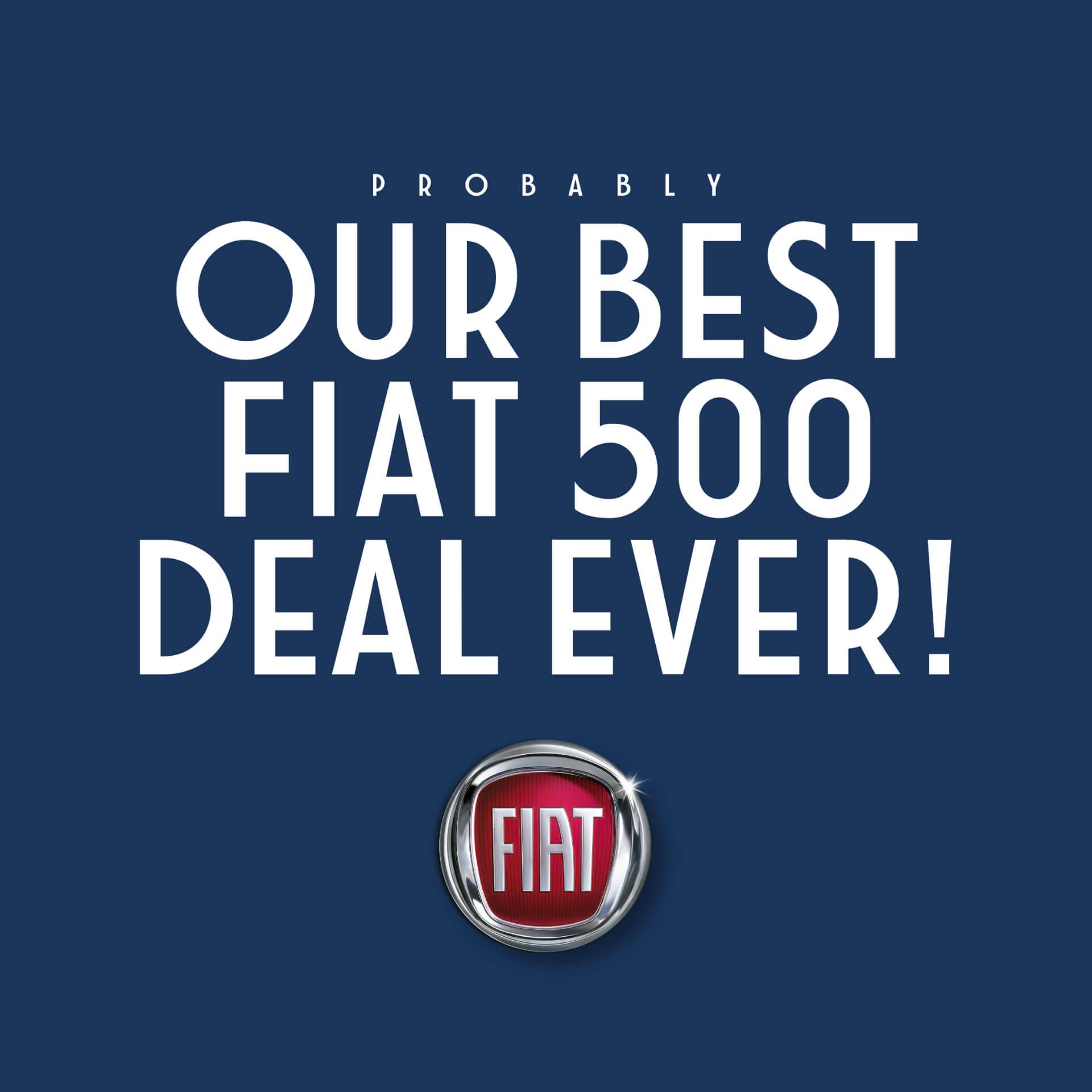 Fiat 500 Facebook Advert Artwork