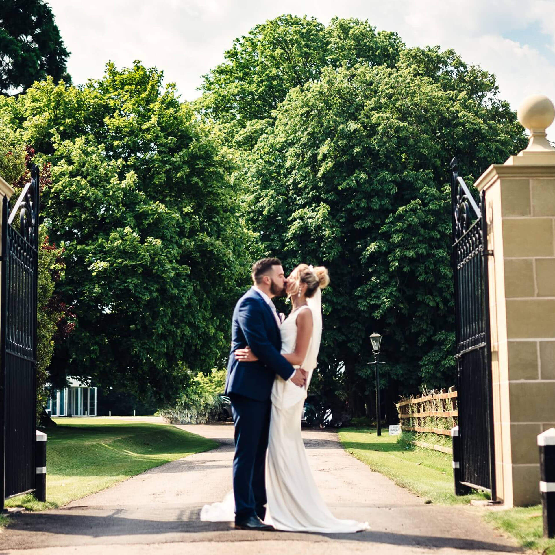 Couple getting married at Tern Hill Hall